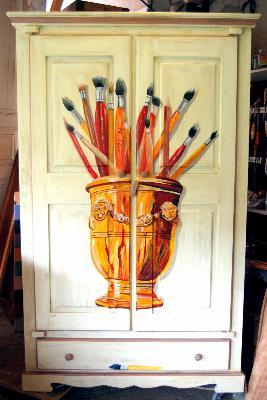 Perfect armoire peinte ancienne pice unique dcor uzs au me - Le bon coin bouches du rhone meubles ...